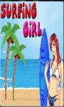 Surfing Girl - Free screenshot 1/4