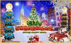 Free Hidden Object Game - City Christmas screenshot 1/4