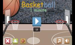 Basketball Game 1 minute screenshot 1/4