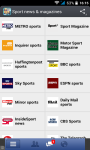 Sport News and magazines RSS reader screenshot 1/3