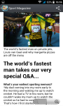Sport News and magazines RSS reader screenshot 3/3