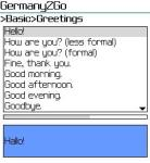 HNHSoft Germany2Go Talking Phrase Book screenshot 1/1