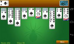 Classic Spider Solitaire screenshot 2/3