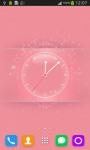 Beautiful Pink Clock screenshot 1/6