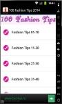 100 Fashion Tips 2014 screenshot 1/3