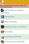 Tips to succeed in Work screenshot 2/3