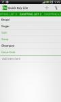 Quick Buy Shopping List Lite screenshot 3/4