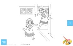 Frozen Cute Coloring Pages Z screenshot 1/3