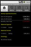Android Personal Financial Organizer screenshot 1/5