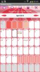 Calendario WomanLog Pro modern screenshot 3/6