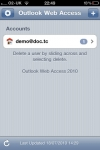 Outlook Web Access 2010 screenshot 1/1