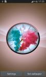 Colorful Smoke Clock LWP screenshot 3/6