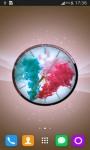 Colorful Smoke Clock LWP screenshot 4/6