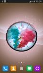 Colorful Smoke Clock LWP screenshot 6/6