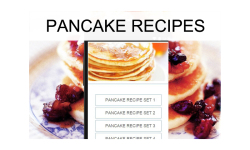 Pancake recipes food screenshot 1/3