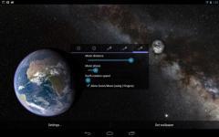 Earth and Moon in HD Gyro 3D PRO ordinary screenshot 1/6