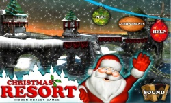 Free Hidden Objects Game - Christmas Resort screenshot 1/4