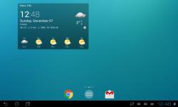 Transparent clock weather screenshot 1/3