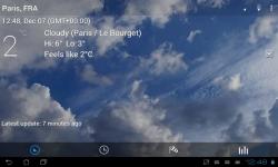 Transparent clock weather screenshot 3/3