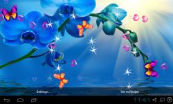 Blue Orchid Live Wallpaper screenshot 1/5