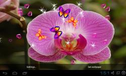 Blue Orchid Live Wallpaper screenshot 3/5