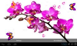 Blue Orchid Live Wallpaper screenshot 4/5