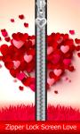 Zipper Lock Screen Love screenshot 1/6
