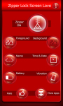 Zipper Lock Screen Love screenshot 2/6
