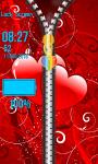 Zipper Lock Screen Love screenshot 5/6