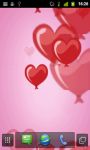 Valentine Balloons Live Wallpaper screenshot 1/2