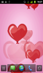 Valentine Balloons Live Wallpaper screenshot 2/2