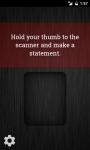 Lie Detector Fingerprint Scanner screenshot 1/3