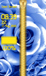 Blue Rose Zipper Lock Screen screenshot 5/6