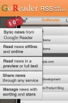 GoReader for iPhone/iPad (RSS Reader with Google Reader full support) screenshot 1/1