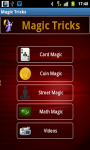 Magic Tricks Application screenshot 1/4