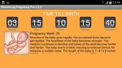 WomanLog Pregnancy Pro optional screenshot 1/6