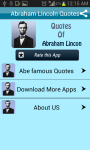 Abraham Lincoln Quotes for SMS Whatsup Email screenshot 1/3