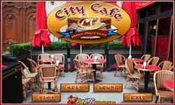 Free Hidden Object Games - City Cafe screenshot 1/4