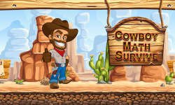 Cowboy Math Survive  screenshot 1/6