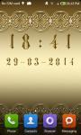 Gold digital clock screenshot 4/6