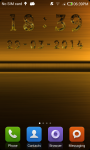 Gold digital clock screenshot 6/6
