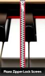 Piano Zipper Lock Screen screenshot 1/6
