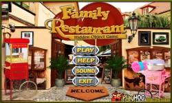 Free Hidden Object Games - Family Restaurant screenshot 1/4