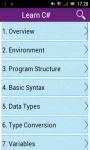 Learn CSharp screenshot 1/3
