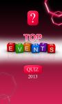 Top Events Quiz of 2013 screenshot 1/4