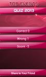 Top Events Quiz of 2013 screenshot 4/4
