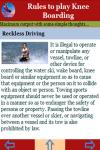Rules to play Knee Boarding screenshot 4/4