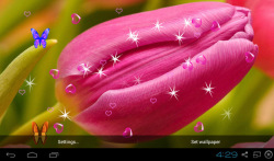 3D Tulip Live Wallpapers screenshot 3/4