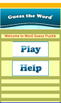 Word Guessing game screenshot 2/4