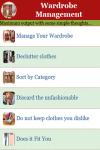 Wardrobe Management screenshot 1/2
